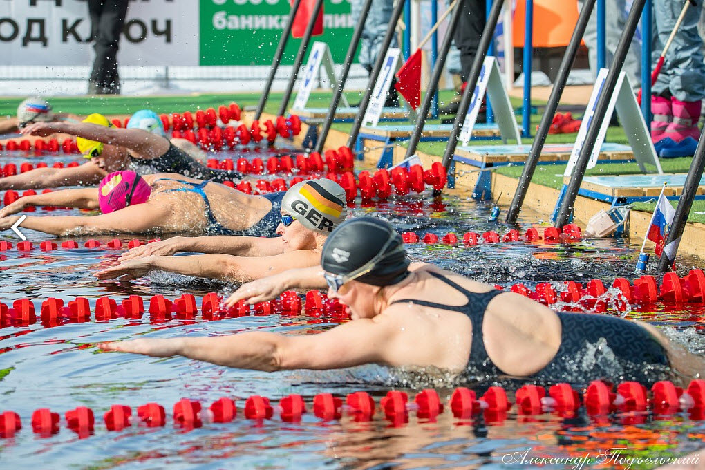 The 5th stage of the Winter Swimming World Cup held in Karelia